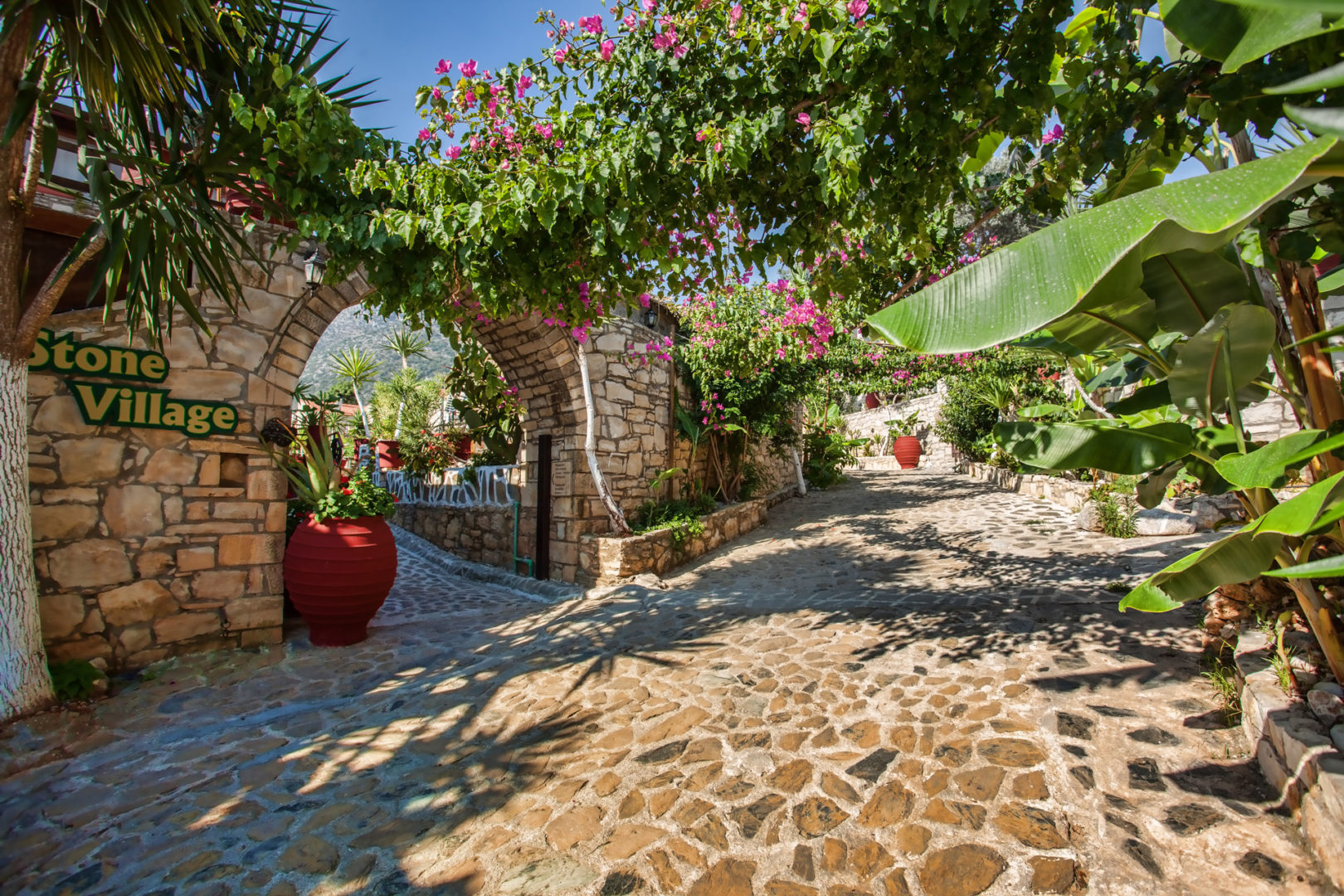 Hotel in Bali Crete - Stone Village - Main Entrance