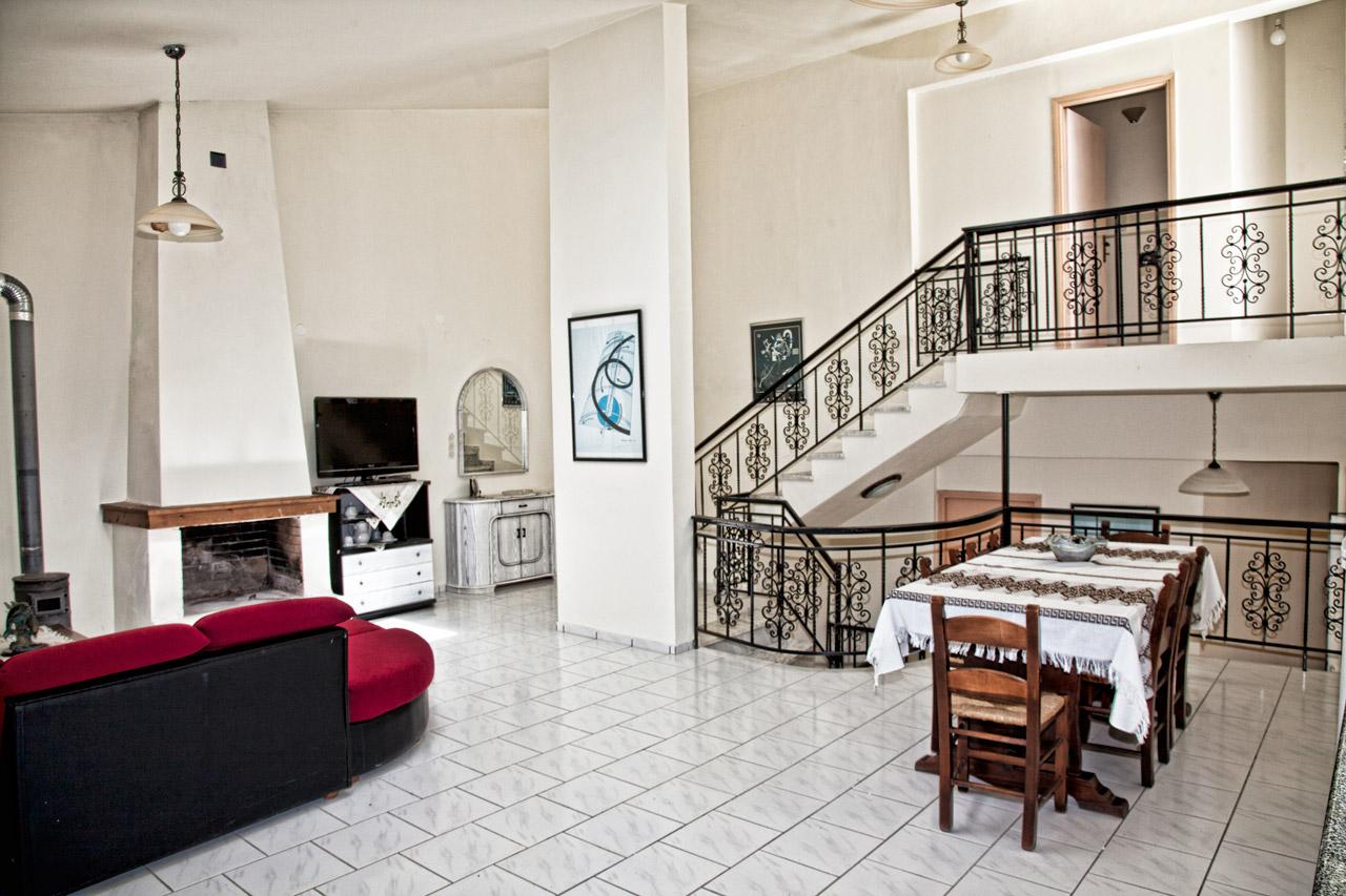 Spacious Villa in Crete Bali - Villa Klados - Living Room 6a